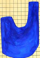 Wave surface 1, 2019, huile sur papier, 21x29,7 cm