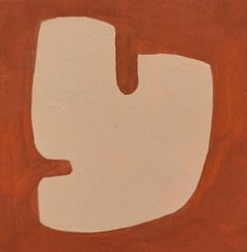 Le jardin fertile 93, 2020, huile sur papier, 11x11 cm