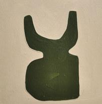 Le jardin fertile 2, 2020, huile sur papier, 11x11cm