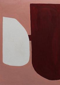 Sunset surface 3, 2019, huile sur papier, 21x29,7 cm // COLLECTION PRIVEE
