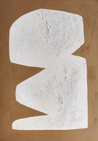 Le sacre de la nature 2, 2020, huile sur papier, 21x29,7 cm