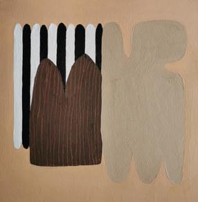 Paysages intérieurs 6, 2020, huile sur papier, 22x22 cm
