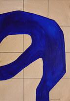 Wave surface 3, 2020, huile sur papier, 21x29,7 cm