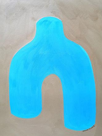 Feuille d'hiver, 2020, huile sur papier, 30x40 cm