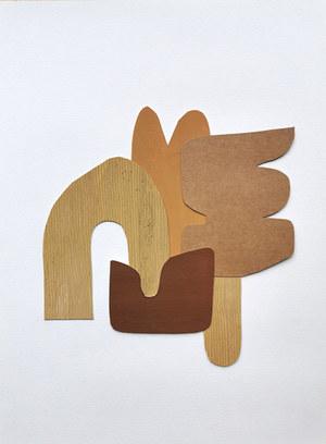 La danse inachevée 10, 2021, huile sur papier découpé, 23x24 cm, Virginie Hucher.jpg