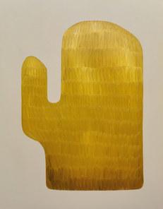 Symphonie du cactus , juillet 2020, huile sur toile, 114 x146 cm