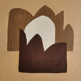Paysages intérieurs 12, 2020, huile sur papier, 22x22 cm
