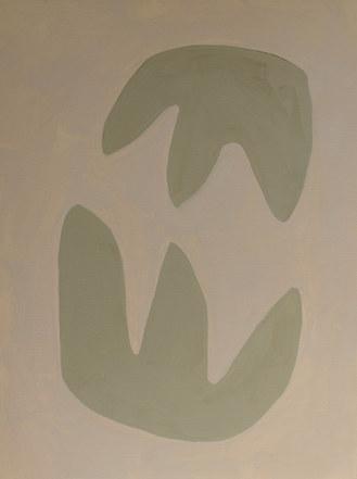 La figure du vivant 79, 2020, huile sur papier, 30x40 cm