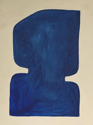 La figure du vivant 58, 2020, huile sur papier, 30x40 cm