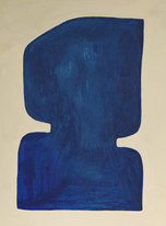 La figure du vivant 58, 2020, huile sur papier, 30x40 cm n// COLLECTION PRIVÉE