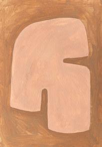 Le sacre de la nature 14, 2021, huile sur papier, 21x29,7 cm