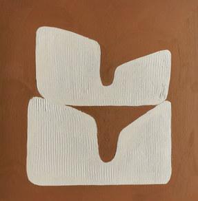 Paysages intérieurs 5, 2020, huile sur papier, 22x22 cm