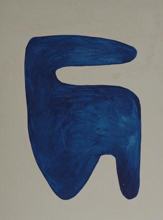 La figure du vivant 56, 2020, huile sur papier, 30x40 cm