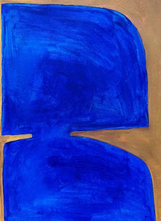 Storm surface 5, 2019, huile sur papier, 21x29,7 cm