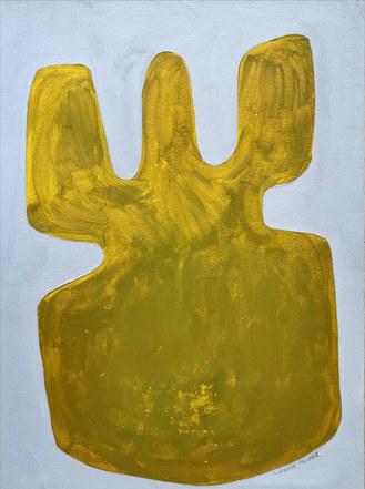 Les bois sacrés, 2020, huile sur papier, 30x40 cm // COLLECTION PRIVEE