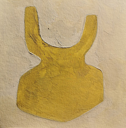 Le jardin fertile 135, 2021, huile sur papier, 11x11 cm