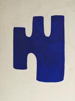 La figure du vivant 54, 2020, huile sur papier, 30x40 cm