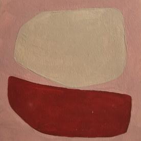 Le jardin fertile 71, 2020, huile sur papier, 11x11 cm