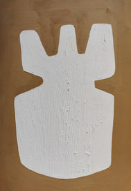 Le sacre de la nature 9, 2020, huile sur papier, 21x29,7 cm