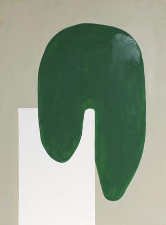 La figure du vivant 81, 2020, huile sur papier, 30x40 cm