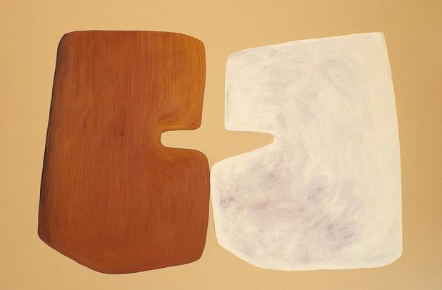 Les arbres fraternisent, 2020, huile sur toile, 195x130 cm