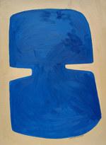 Célèste, 2020, huile sur papier, 30x40 cm // COLLECTION PRIVÉE