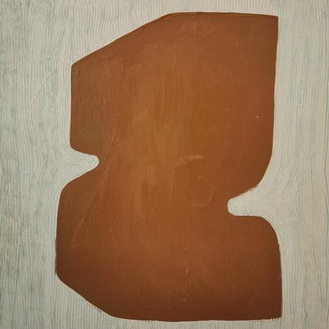 L'ombre de l'arbre, 2020, huile sur toile, 30x30 cm