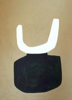 La figure du vivant 36, 2020, huile sur papier, 30x40 cm