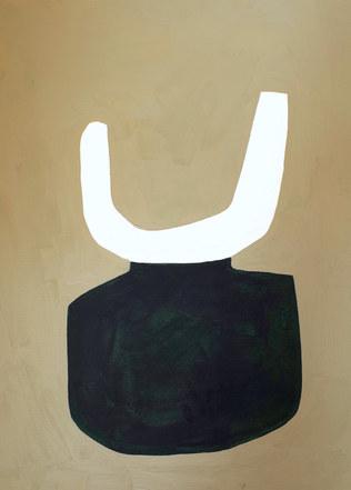 La figure du vivant 36, 2020, huile sur papier, 30x40 cm // COLLECTION PRIVEE