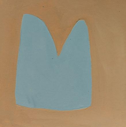 Le jardin fertile 108, 2020, huile sur papier, 11x11 cm