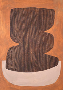 Le sacre de la nature 11, 2021, huile sur papier, 21x29,7 cm