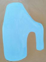 Symphonie en bleu, 2020, huile sur papier, 30x40 cm