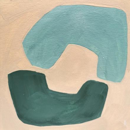 Le jardin fertile 61, 2020, huile sur papier, 11x11 cm // COLLECTION PRIVEE