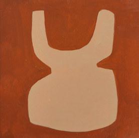 Le jardin fertile 92, 2020, huile sur papier, 11x11 cm