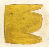 Le jardin fertile 129, 2021, huile sur papier, 11x11 cm