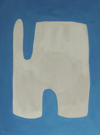 La figure du vivant 55, 2020, huile sur papier, 30x40 cm