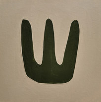 Le jardin fertile 15, 2020, huile sur papier, 11x11 cm
