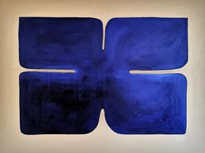 Les ailes de neptune, 2020, huile sur toile, 130x97 cm