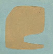 Le jardin fertile 116, 2020, huile sur papier, 11x11 cm