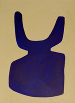 La figure du vivant 39, 2020, huile sur papier, 30x40 cm // COLLECTION PRIVEE