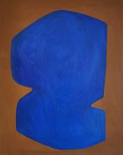 Eclipse bleue, 2020, huile sur toile, 65x81 cm COLLECTION PRIVEE