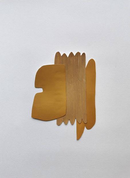 La danse inachevée 5, 2021, huile sur papier, 14x20 cm