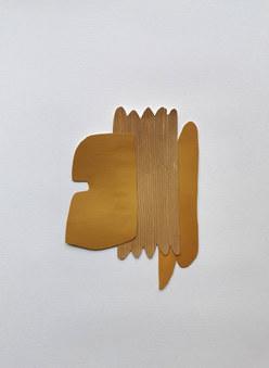 La danse inachevée 5, 2021, huile sur papier découpé, 14x20 cm, Virginie Hucher.jpg