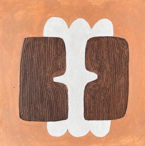Paysages intérieurs 22, 2021, huile sur papier, 22x22 cm