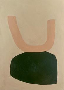Arborescence, 2021, huile sur toile, 24x33 cm