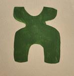 Le jardin fertile 3, 2020, huile sur papier, 11x11cm