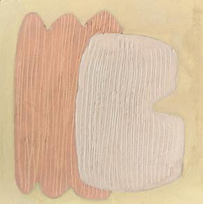 Le jardin fertile 143, 2021, huile sur papier, 11x11 cm // COLLECTION PRIVÉE