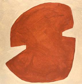 Le jardin fertile 63, 2020, huile sur papier, 11x11 cm // COLLECTION PRIVEE