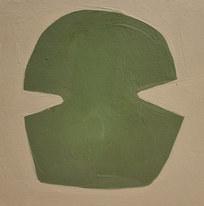 Le jardin fertile 5, 2020, huile sur papier, 11x11 cm
