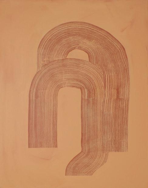 Ondulation organique 3, 2020, acrylique sur toile, 73X92 cm